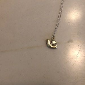 Tiny dove necklace